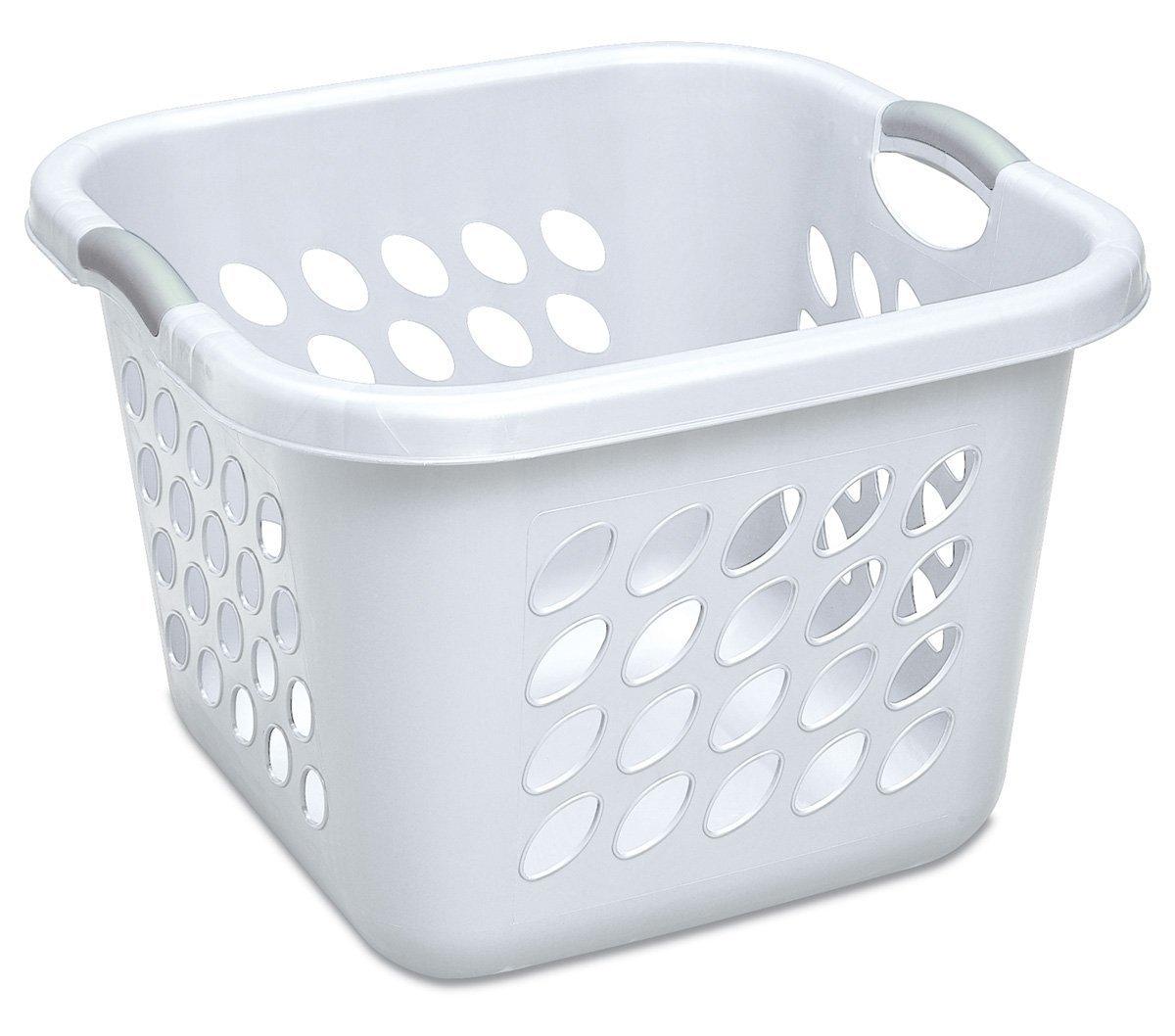 6-Pack of Sterilite 1.5-Bushel Ultra Square Laundry Baskets (White)  $25 + Free Store Pickup