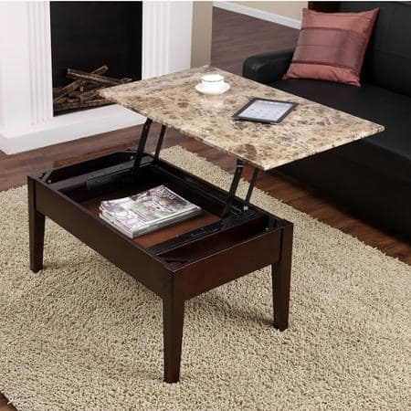 Dorel Living Faux Marble Lift Top Coffee Table (Espresso)  $95 + Free Shipping