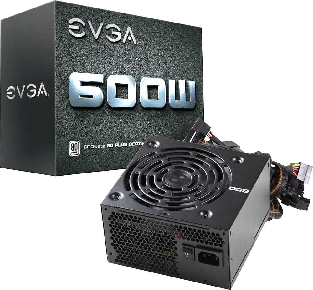 EVGA 600W 80+ Certified Black ATX Power Supply $29.99 + Free Shipping