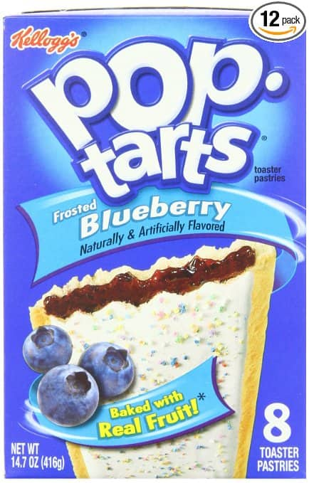 96-Count Kellogg's Frosted Blueberry Pop-Tarts  $17.50 & More + Free S&H