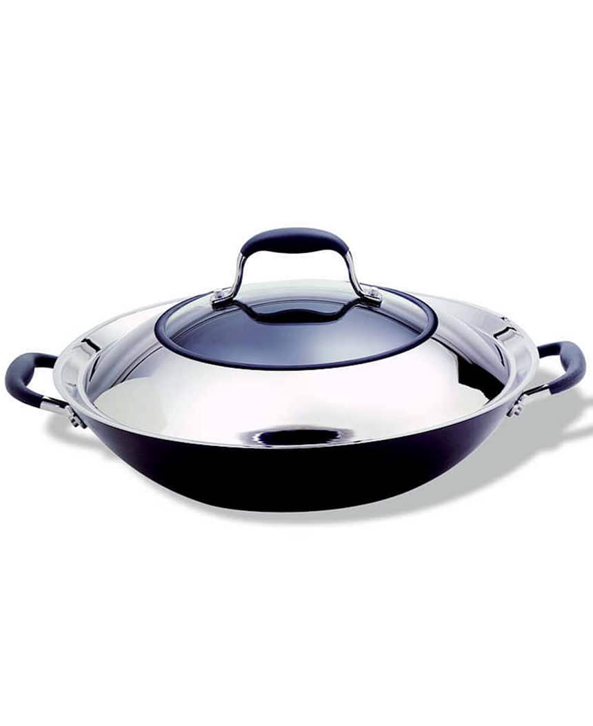 """Anolon Advanced: 10-Qt Stockpot w/ Lid, Nonstick 14"""" Covered Wok  $29.25 + Free Shipping"""