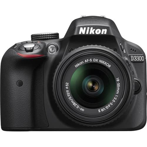 Nikon D3300 24.2MP 1080p Digital SLR Camera w/ 18-55mm VR II Lens Bundle with Nikon WiFi adapter and Deluxe Case (Refurbished) $329 + free shipping!