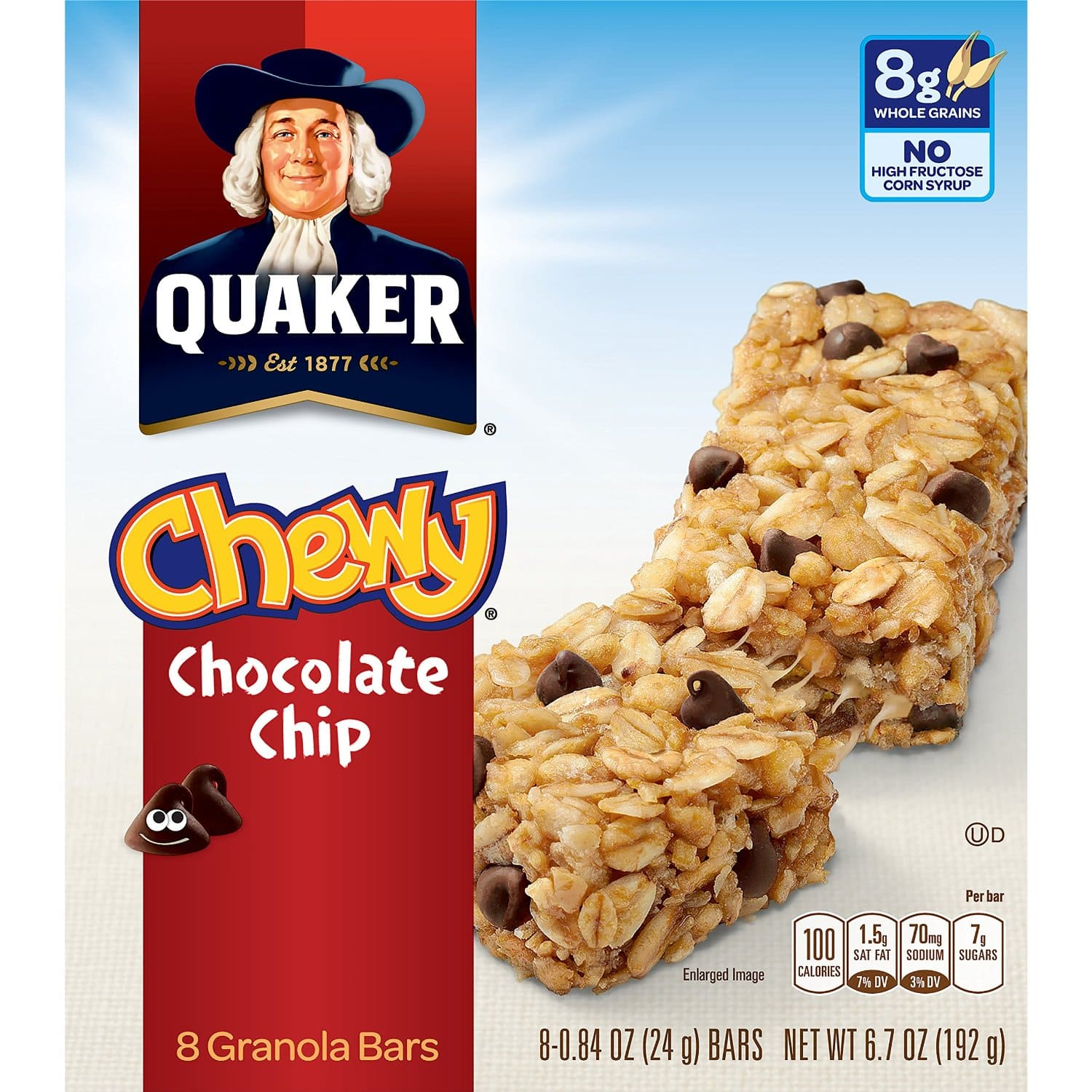 Prime Members: 48-Ct Quaker Chewy Granola Bars (Chocolate Chip)  $7.25 + Free Shipping