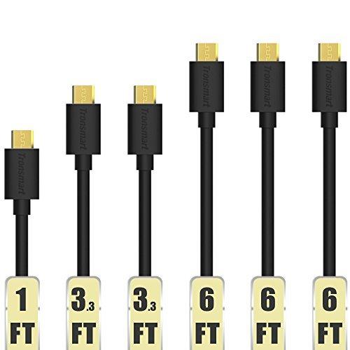 6 Tronsmart Micro USB cables (1,3,3,6,6,6 ft) $7
