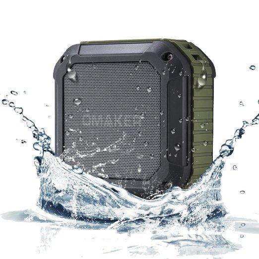 Omaker M4 Square Shockproof & Splashproof Bluetooth 4.0 Portable Speaker with NFC for $17.99 AC + FSSS or FS w/ Prime @ Amazon.com
