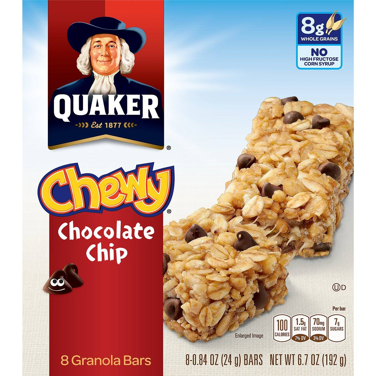 BACK IN STOCK - Prime Members: 48-Ct Quaker Chewy Granola Bars (Chocolate Chip)  $7.25 AC & S&S ($6.22 AC & 5 S&S Orders) + Free Shipping - Amazon