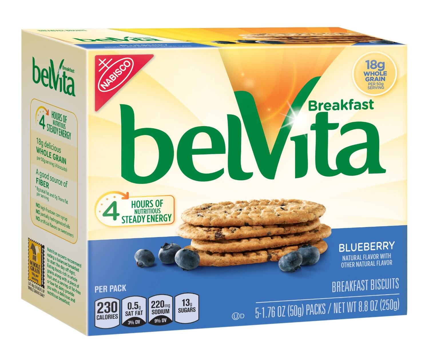 belVita Breakfast Biscuits, Blueberry, 8.8 Ounce (6 Packs of 5) 30 total -- $11.94 + FS w/ Prime