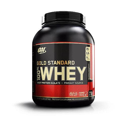 10 lbs Optimum Nutrition Gold Standard 100% Whey Protein Powder (Delicious Strawberry & Chocolate Malt) $75 ($60 for Amex Card Holders with Offer) Free Shipping