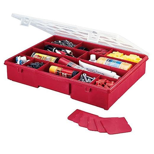 Stack-On Compartment Red Storage Box - $5 + Free Store Pickup @ Sears
