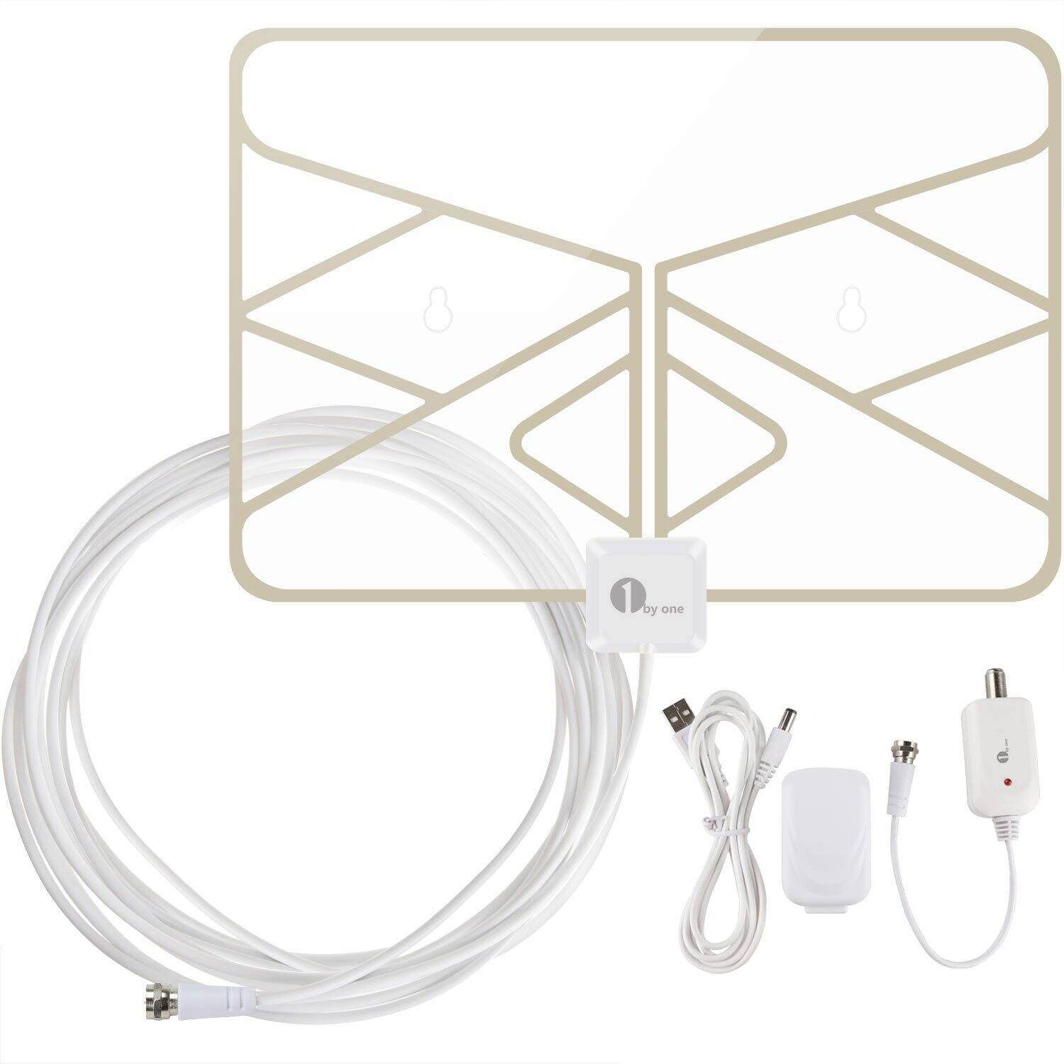 1byone Window Antenna 50 Miles Super Thin HDTV Antenna with 20ft Coaxial Cable - $16.99 AC @ Amazon