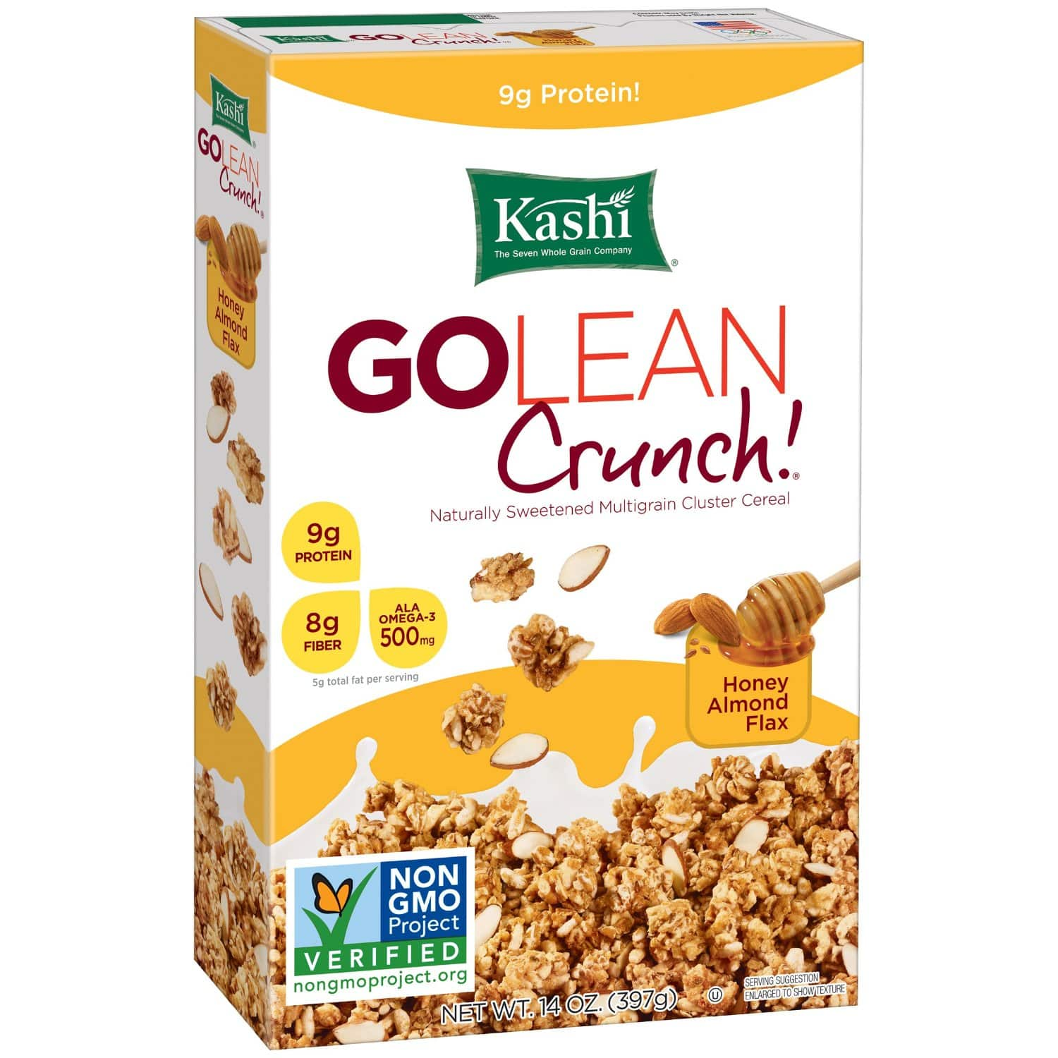 Kashi GOLEAN Crunch! Cereal, Honey Almond Flax, 14-Ounce Boxes (Pack of 4) $2.30 or less w/subscribe and save @Amazon