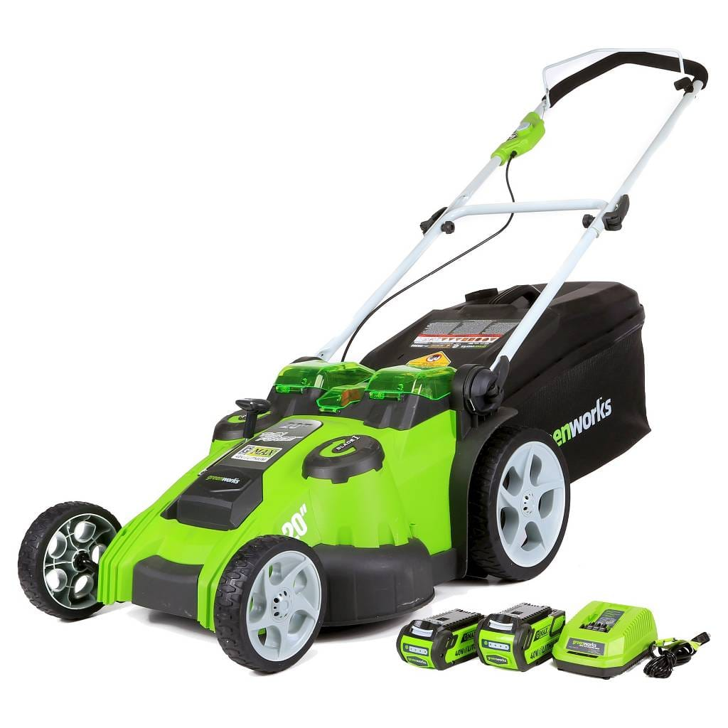 "Greenworks Twin Force 20"" 40V Li-Ion Cordless Lawn Mower w/ 2 Batteries & Charger  $280 + Free Store Pickup"