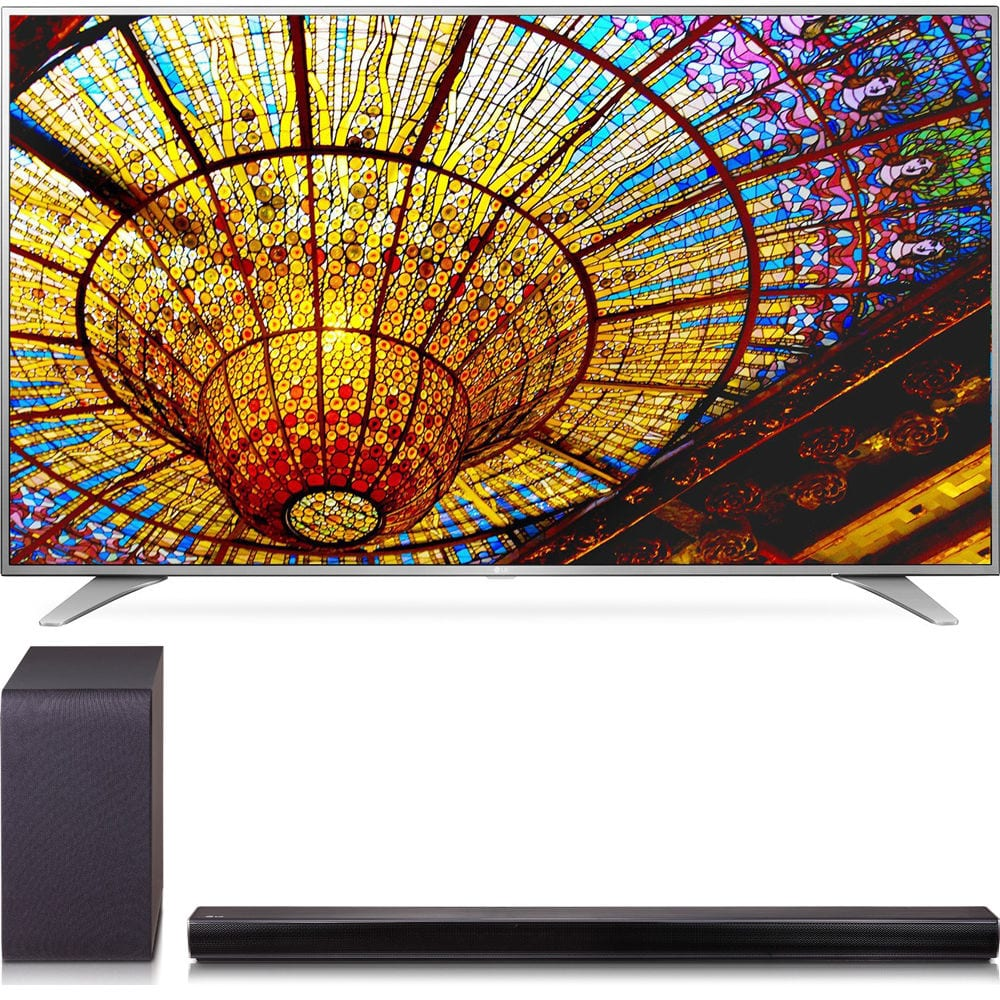 "55"" LG 55UH6550 4K UHD Smart HDTV + SH5B 2.1-Ch 320W Sound Bar w/ Subwoofer  $799 + Free Shipping"