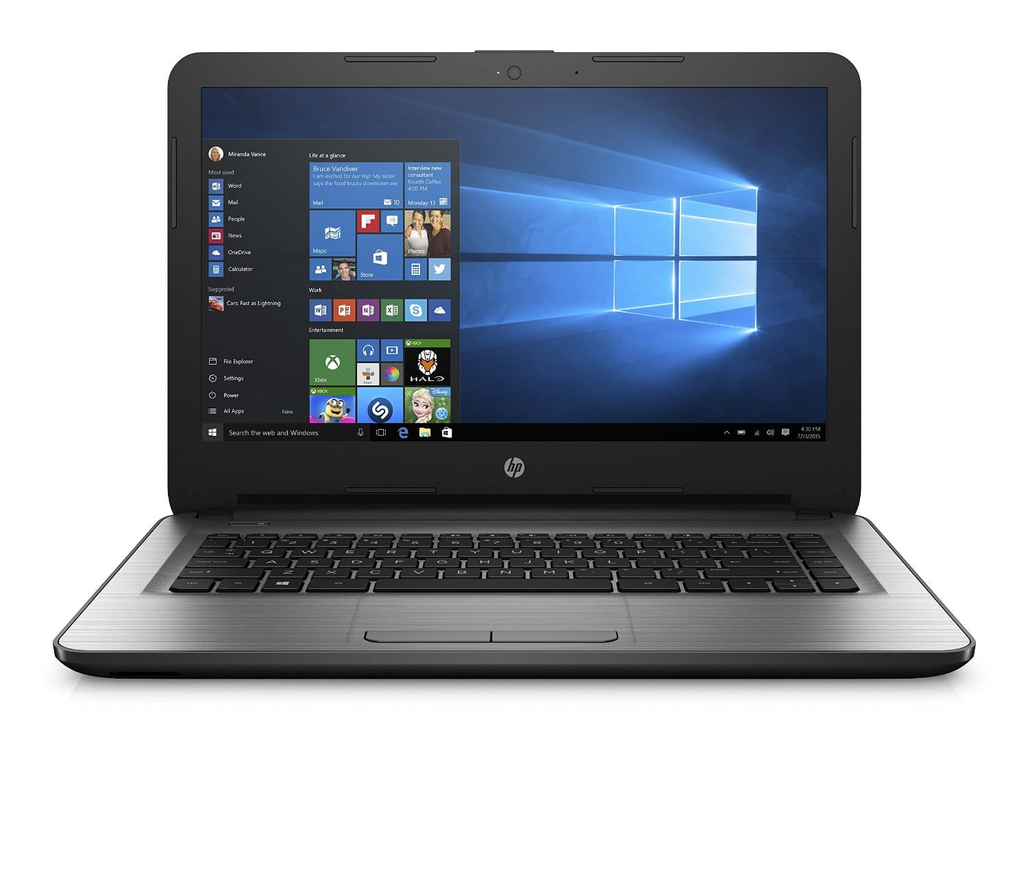 "$200 HP 14"" FHD IPS laptop / Quad Core AMD E2 / 4gb / 32gb"