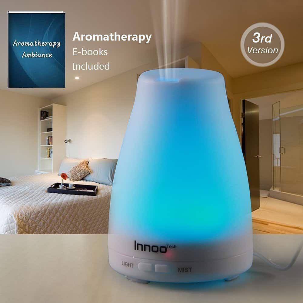 100ml Innoo Tech Oil Diffuser with 7 Changing Color LED Lights $9 @ Amazon