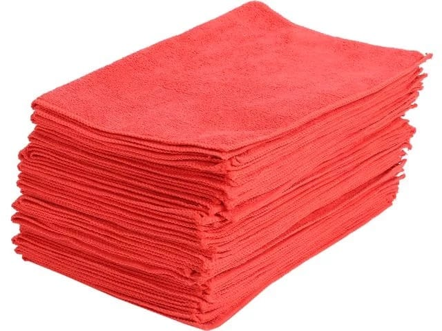 Maxkin Premium Microfiber Cleaning Cloths - Red - 30 Pack - MAXA-11 for $9.99 FS