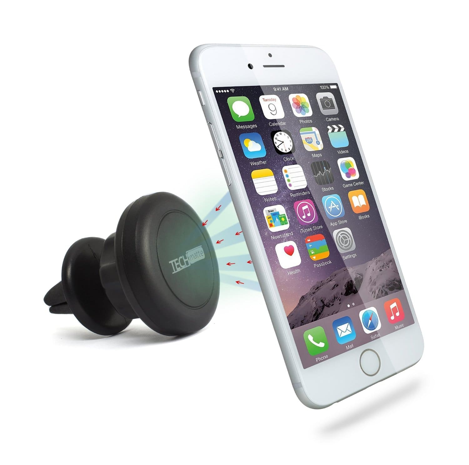 TechMatte MagGrip 360 Magnetic Air Vent Car Mount for Smartphones  $6