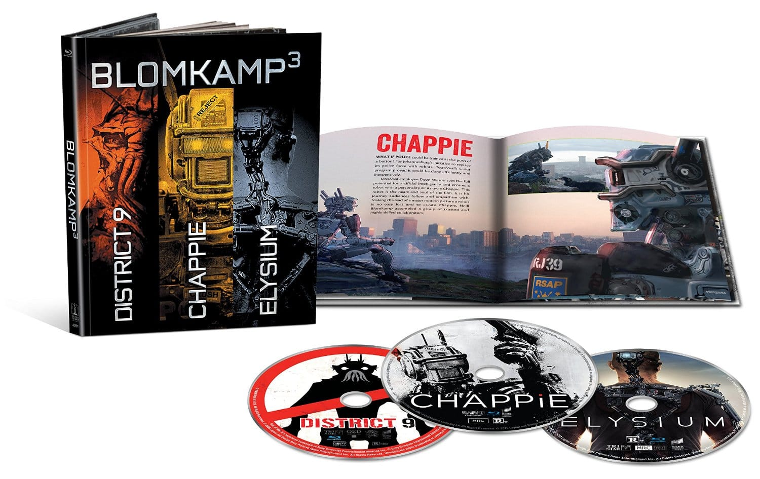 Amazon $13.49  Blomkamp Limited Edition Collection Blu-ray (DigiBook / Chappie / District 9 / Elysium / Blu-ray + UltraViolet)