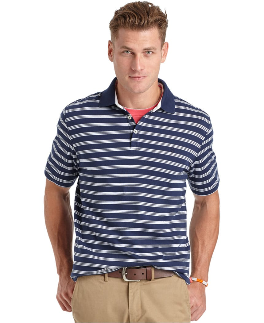 Izod Men's Striped Polos 2 for $19 shipped