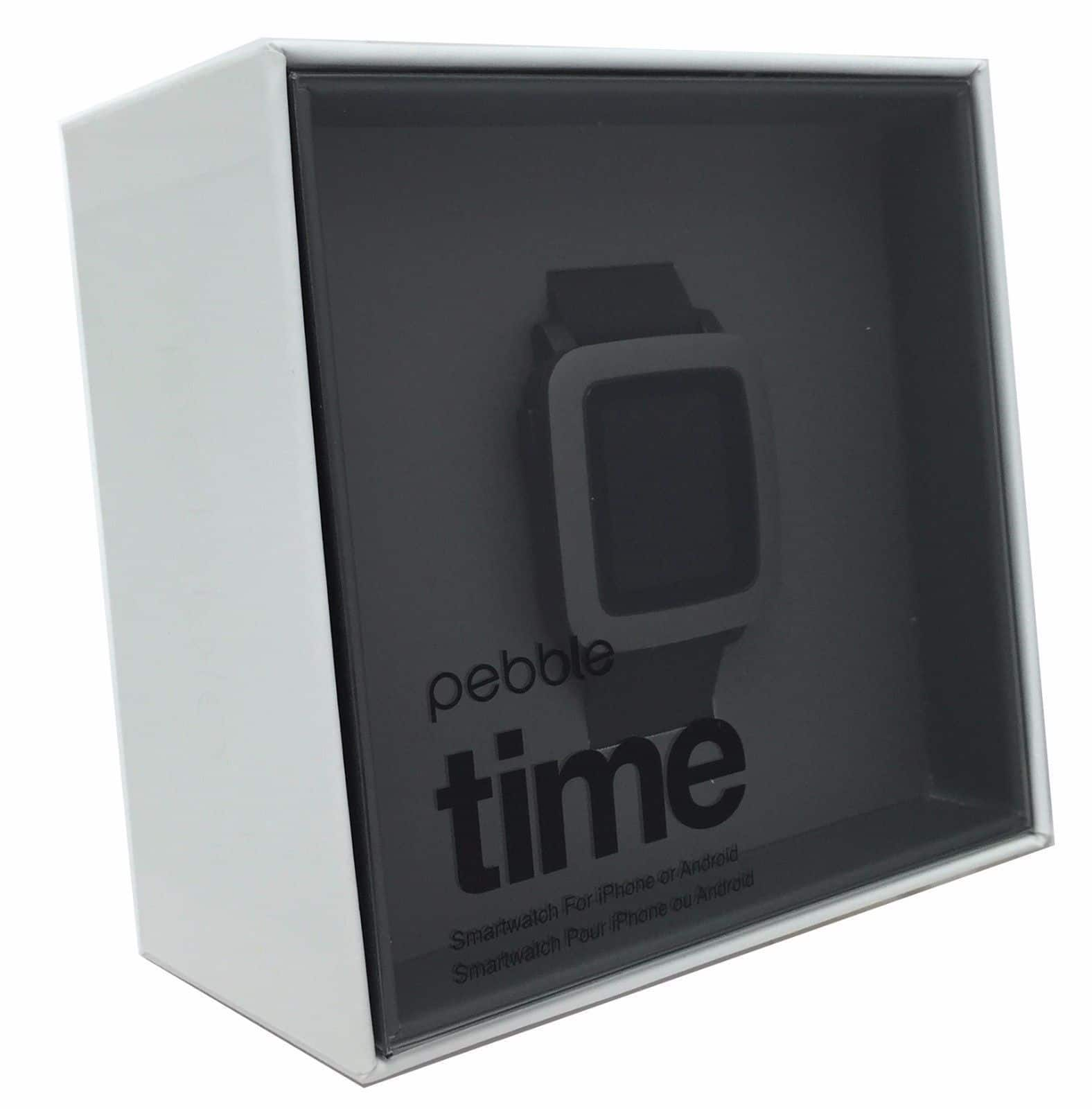 Pebble Time iPhone/Android Bluetooth Water Resistant Smartwatch $85 + Free Shipping (eBay Daily Deal)
