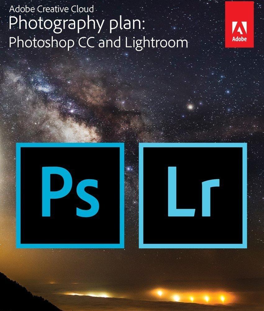 Adobe Creative Cloud Photography plan (Photoshop CC + Lightroom) $7.49/month