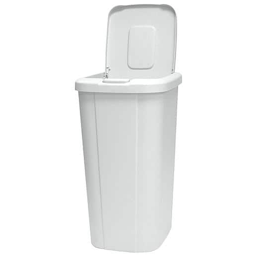 13.3-Gallon Wastebasket with Touch Lid: Black $5.47, White $4.47 + Free Store Pickup ~ Sears