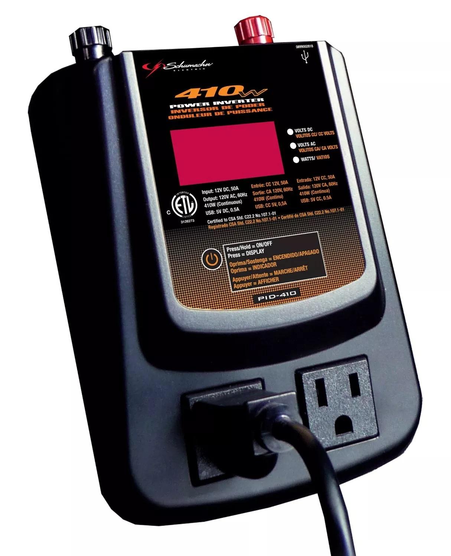 Schumacher PID-410 410 Watt Power Inverter with Digital Display for $24.99 + Free Shipping @ Newegg.com