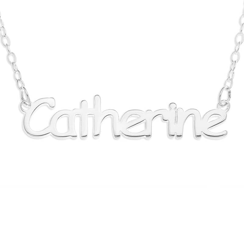 "16"" Personalized Sterling Silver Name Necklace  $19 + Free Store Pick-Up"
