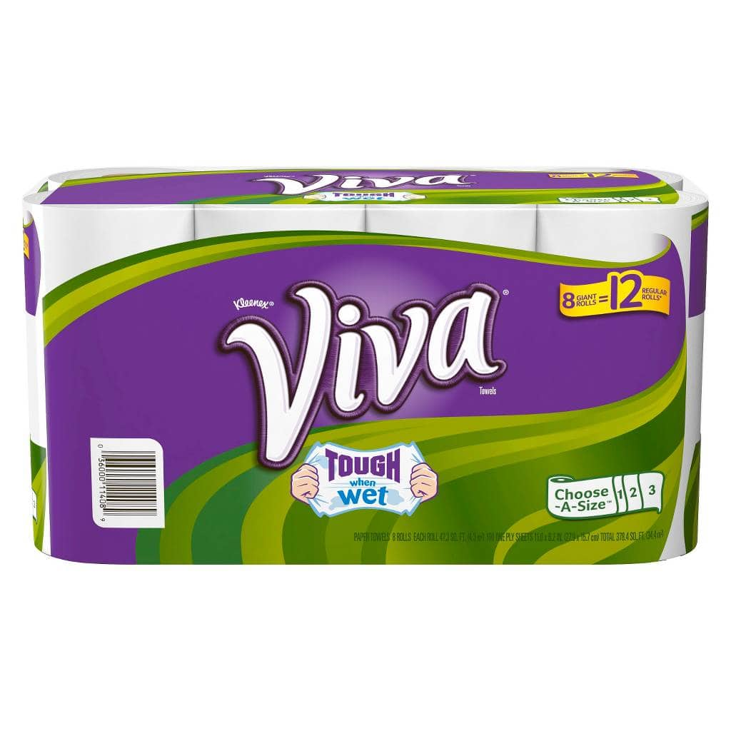 Target Viva Paper Towels 16 Giant Rolls or Scott Toilet Paper 48 Double Rolls + $5 GC for $18 with store pickup