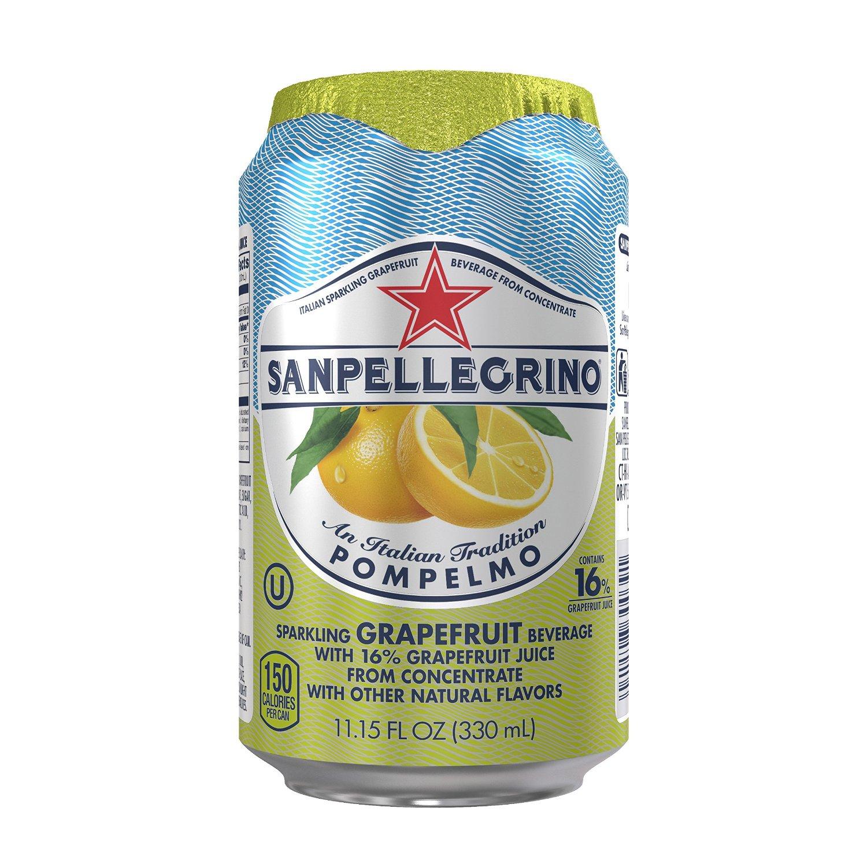 San Pellegrino Sparkling Fruit Beverages, Lemon or Grapefruit, 11oz Cans 24ct. $12 Amazon S&S