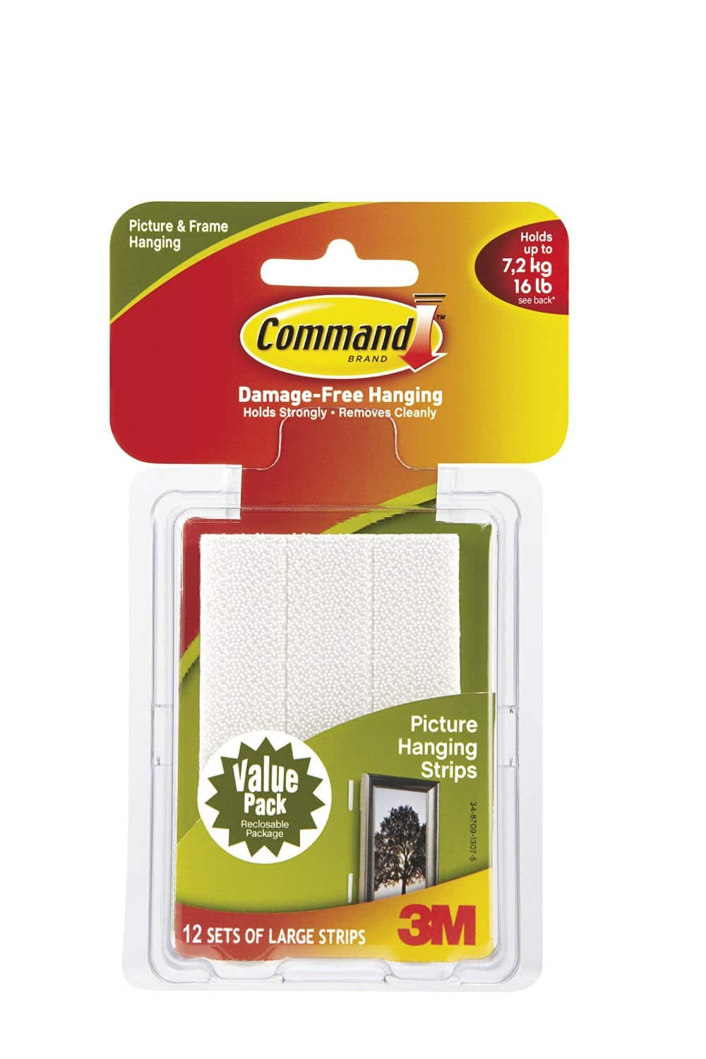 12-Sets of Command Large Picture Hanging Strips  $6.70 + Free Store Pickup