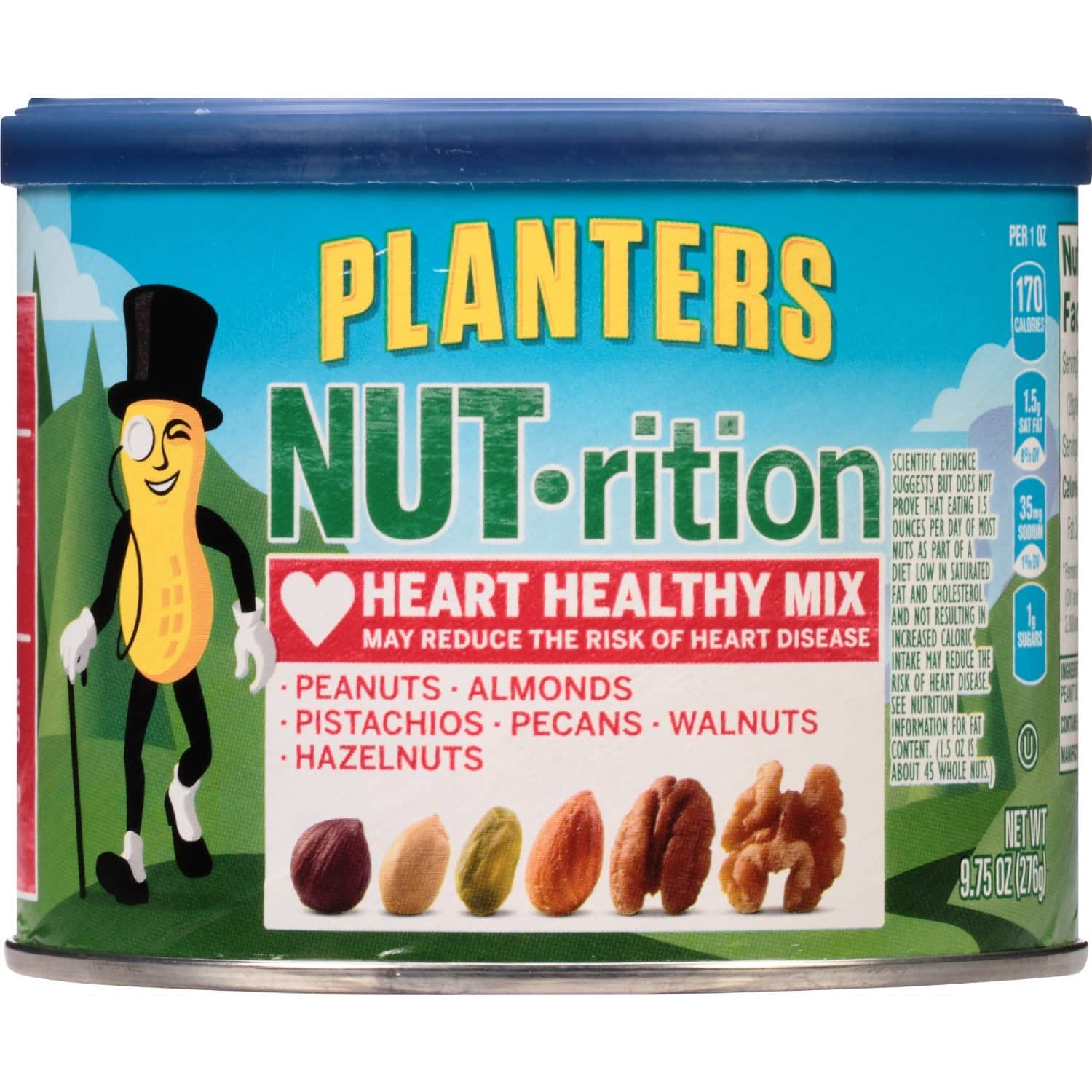 Planters NUT-rition Heart Healthy Mix, (3x 9.75-oz. Cans): $9 + FS @ Amazon [Prime s&s]