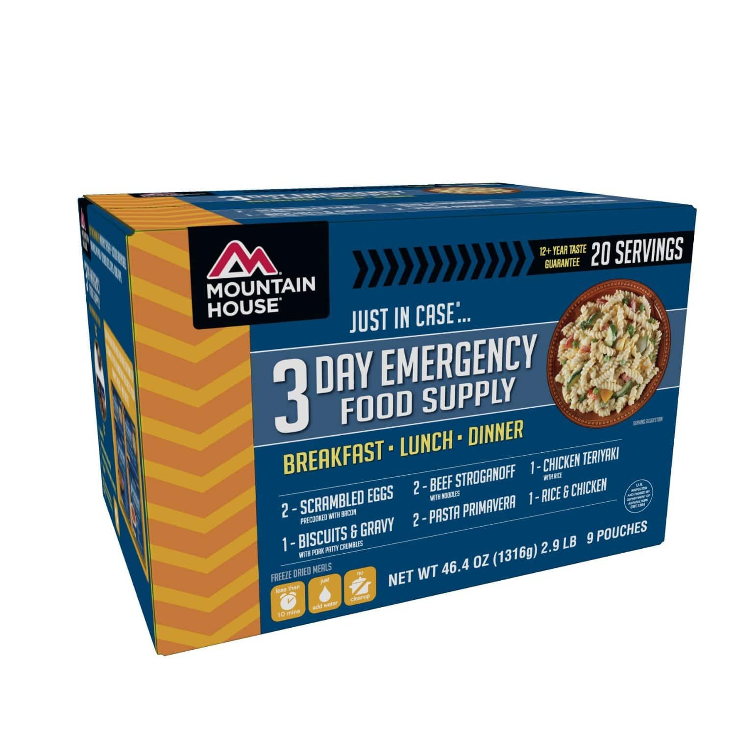 3 Day Mountain House Just In Case Emergency Food Supply  $39