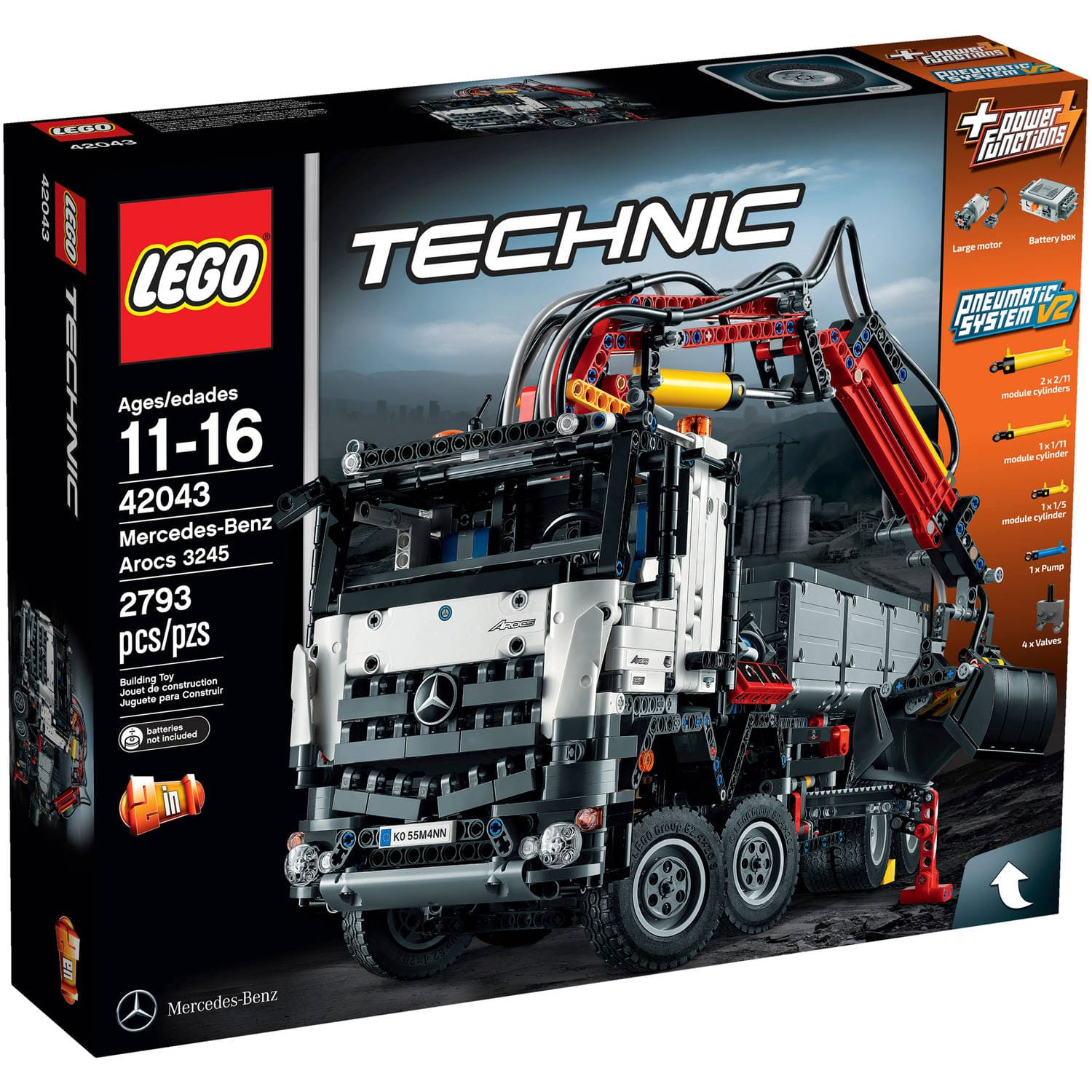 LEGO Technic Mercedes-Benz Arocs 3245 Building Kit  $178.25 + Free Shipping