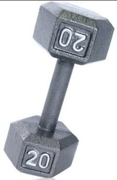 CAP Barbell Cast Iron Hex Dumbbell: 25lb $14, 20lb  $10.50 & More + Free Store Pickup