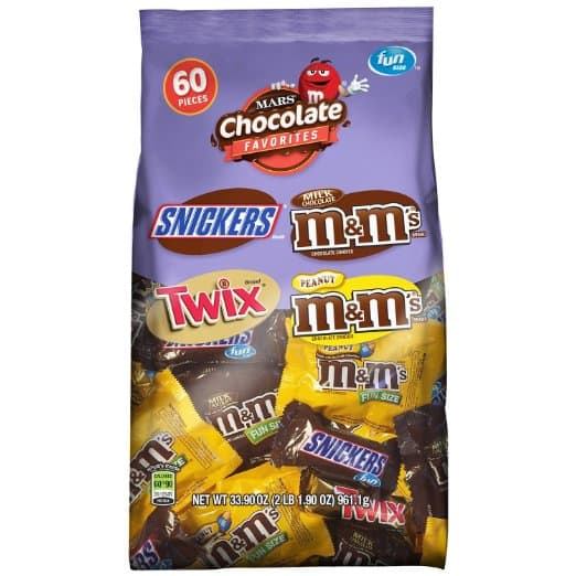 Prime Members: 60-Piece Mars Chocolate Favorites Fun Size Candy Bars  $8 & More + Free S&H