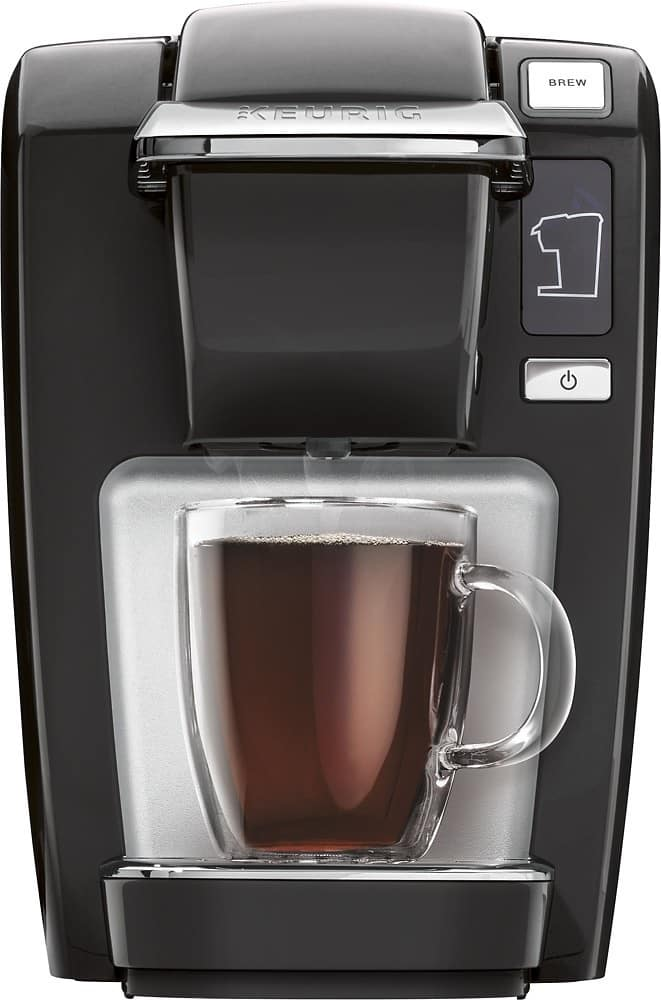 Keurig - K15 Single-Serve Coffeemaker w/$15 gift card and free case of $28.99 coffee at BB/ $69