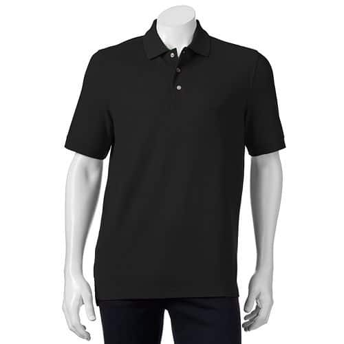 Men's Croft & Barrow Easy-Care Pique Polo $6.37 + free store pickup at Kohls