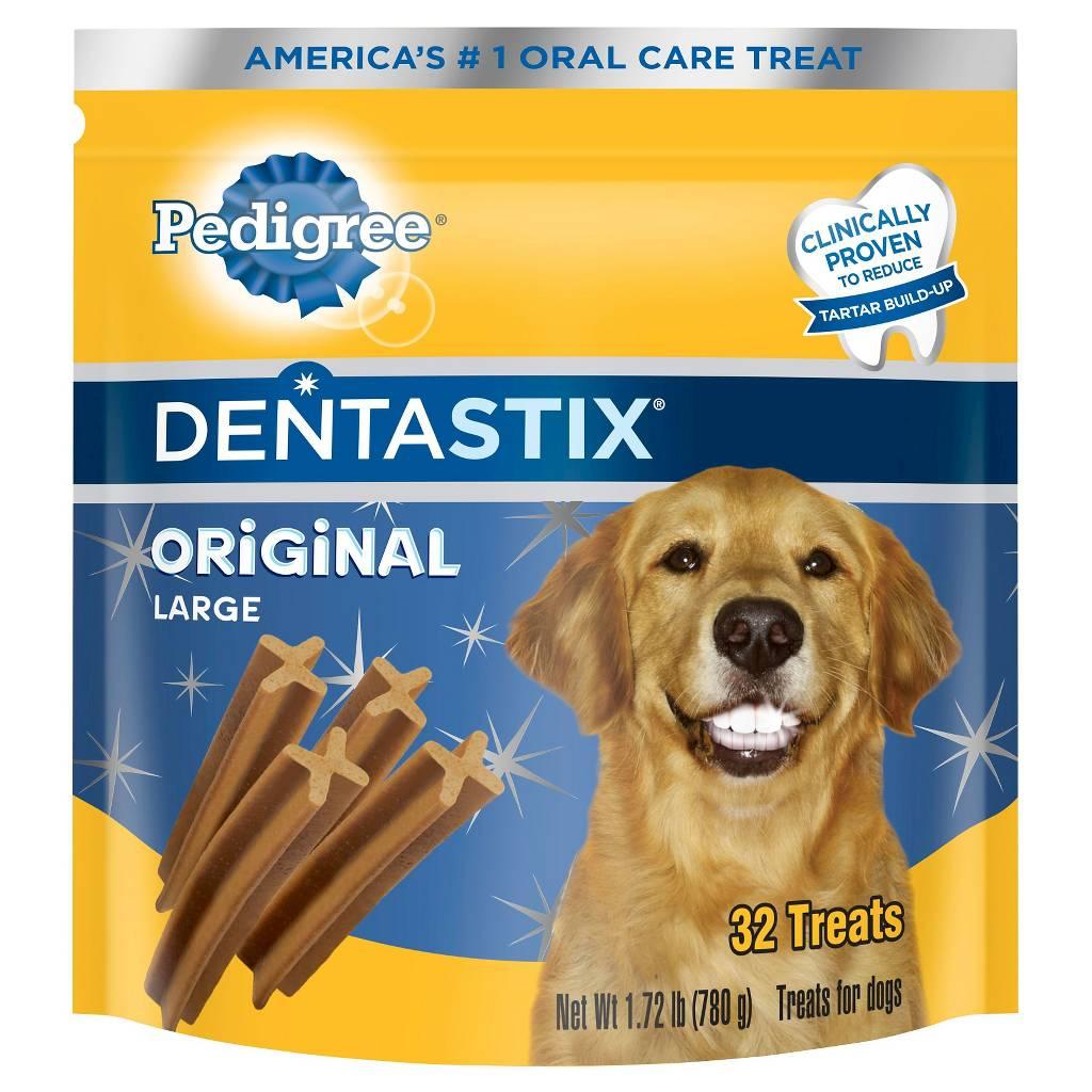 32-Count Pedigree Dentastix Large Dog Treats (Original)  $7.60 + Free Shipping