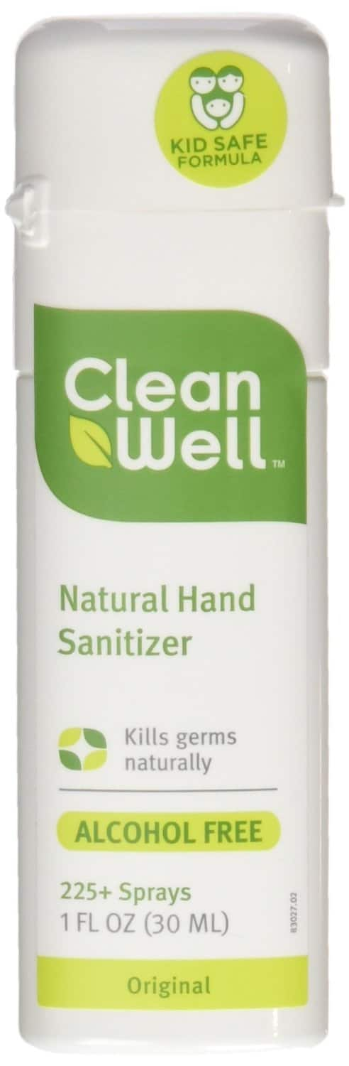 Cleanwell Natural Hand Sanitizer Spray, Original Scent, 1 oz (Pack of 6) $3.22 Amazon S&S