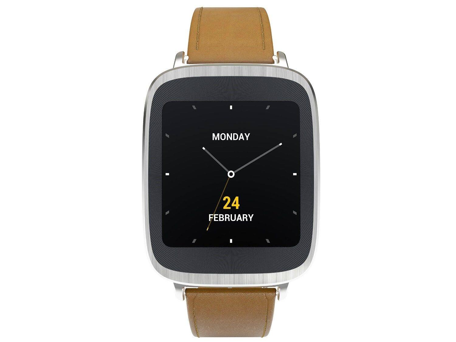 Asus ZenWatch Stainless Steel Smartwatch w/ Brown Leather Band (Refurbished) - $64.99 + Free Shipping @ eBay