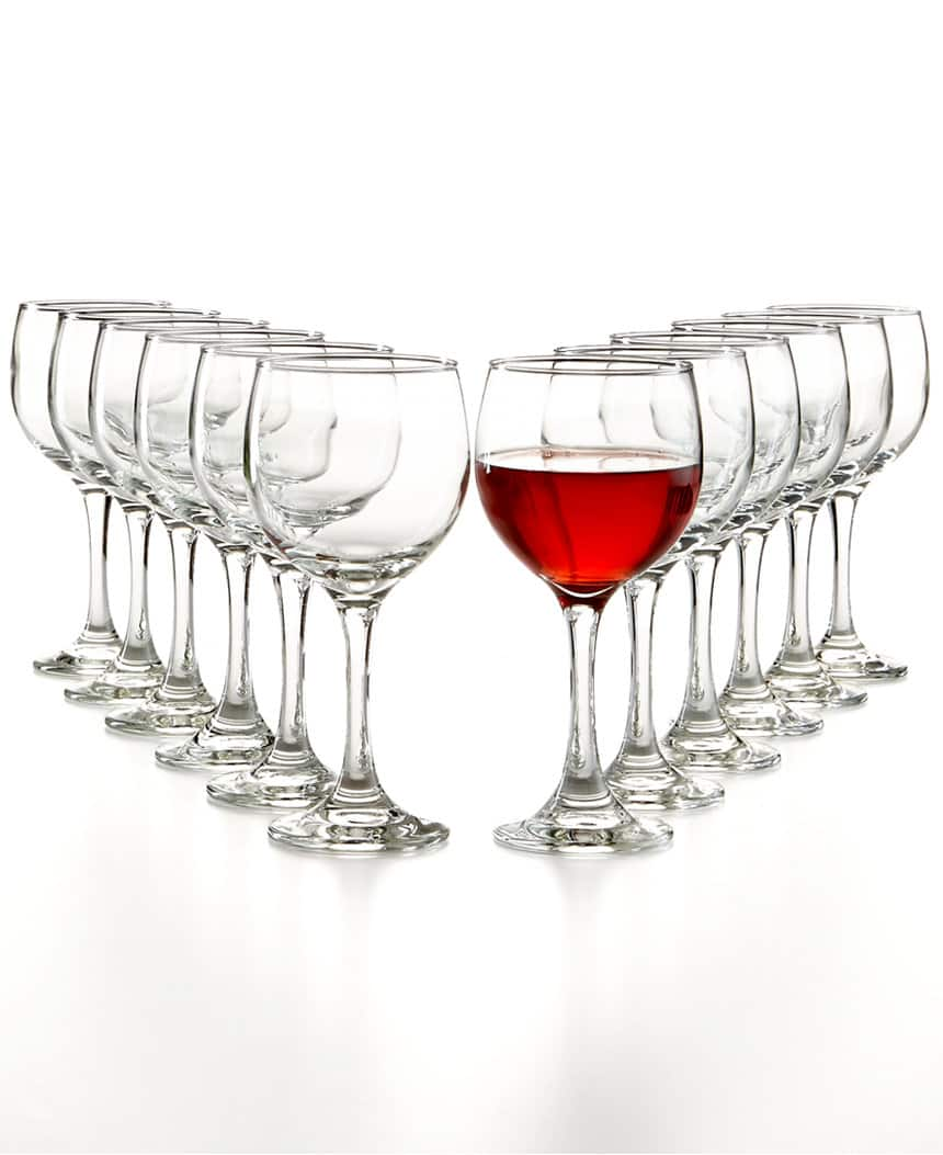 12-Piece The Cellar Glassware Basic Wine Glass Set (Red, White, or Stemless) $8.50 each w/ free store pickup at Macys