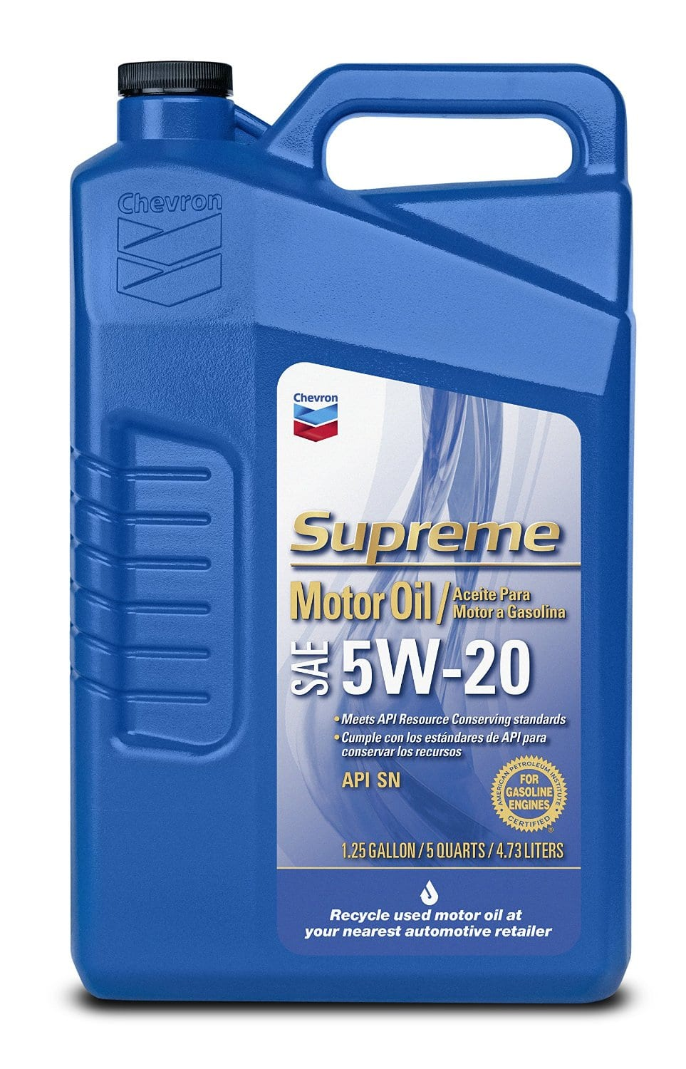 5-Quarts of Chevron Supreme Conventional Motor Oil (5W-20)  $5 after $5 Rebate + Free Store Pickup