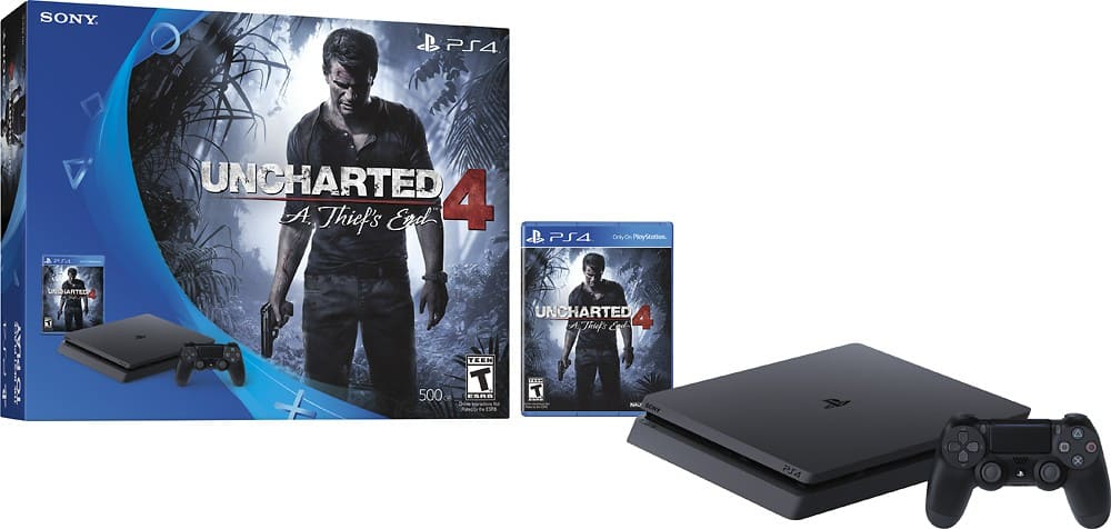 Sony - PlayStation 4 Console Uncharted 4: A Thief's End and Platinum Wireless Headset Bundle $299.99 Best Buy