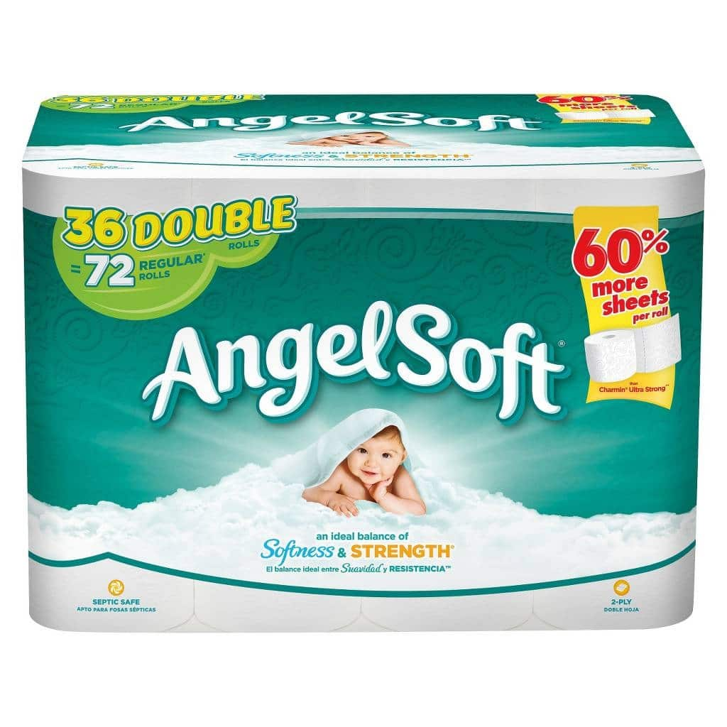 72-Count Angel Soft Double Roll Toilet Paper + $5 Target Gift Card  $20.45 & More + Free S&H