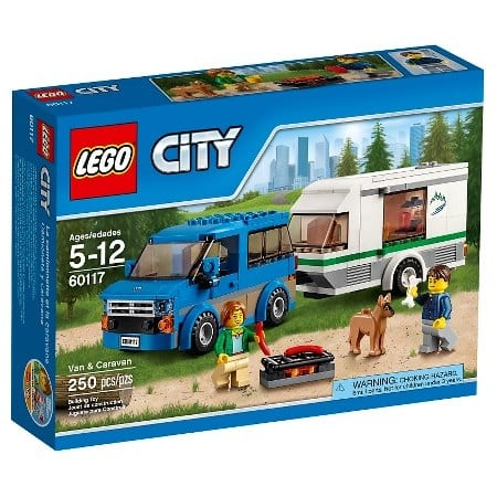 250-Pieces LEGO City Van & Caravan Set  $12 + Free Store Pickup