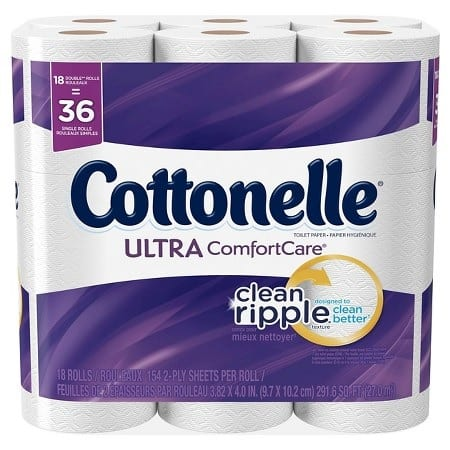 36-Count Cottonelle Double Roll Toilet Paper + $5 Target Gift Card  $14 & More + Free S&H