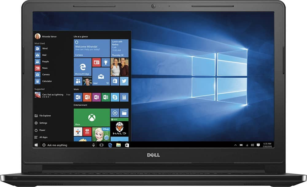 Dell Inspiron i3-5015u Laptop 1TB HDD I3558-5500BLK $260@BestBuy