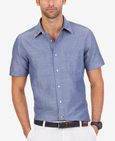 Men's Nautica Tees (various designs) $5.60 each, Button-Down Short Sleeve Shirts or Cotton Jersey Polo $12 each + $2 shipping