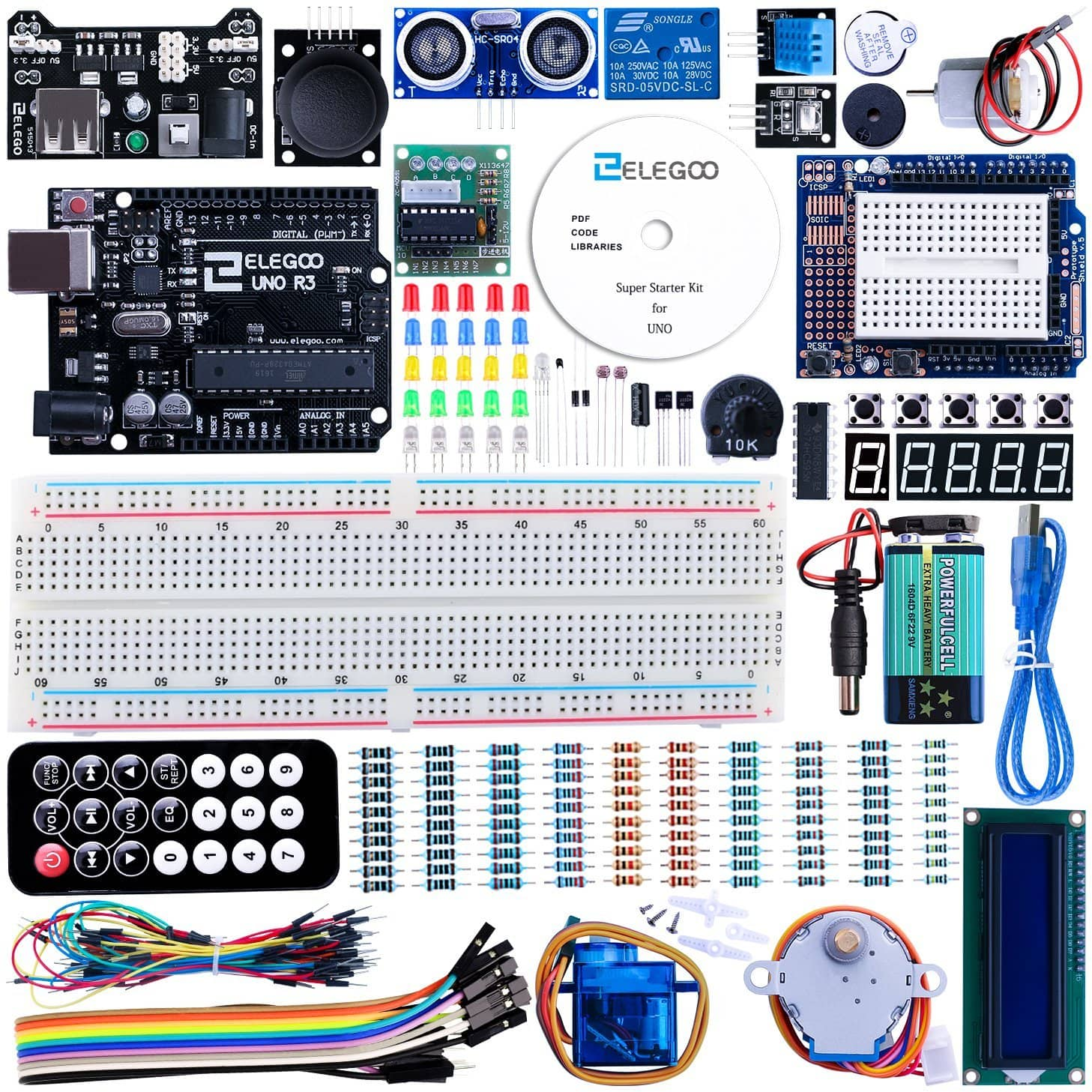 Elegoo UNO Project Super Starter Kit for Arduino $22 @ Amazon